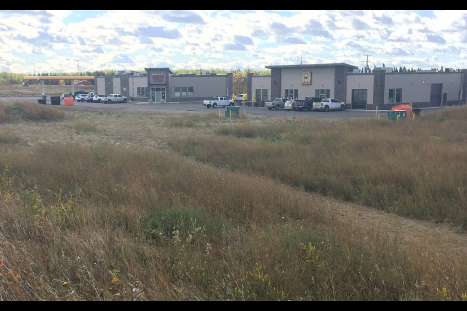 This business area along 91 Avenue and Beaver Hill Road is the location for a Tim Horton's restaurant — the first in the community.