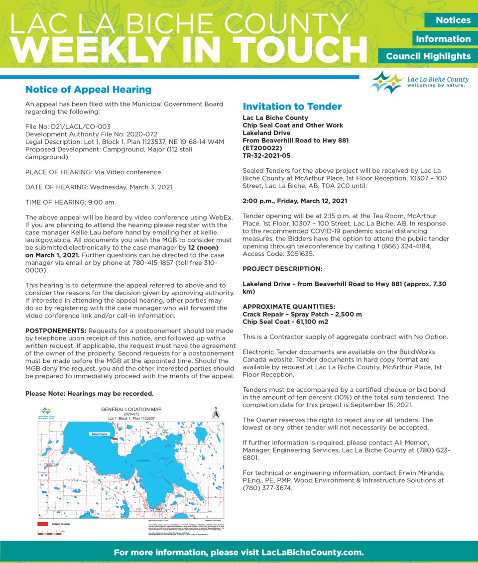 Lac La Biche County Weekly In Touch 2