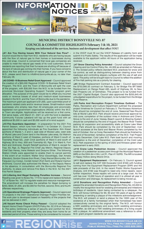 MD BNV Feb 16, 2021 Council Highlights 1