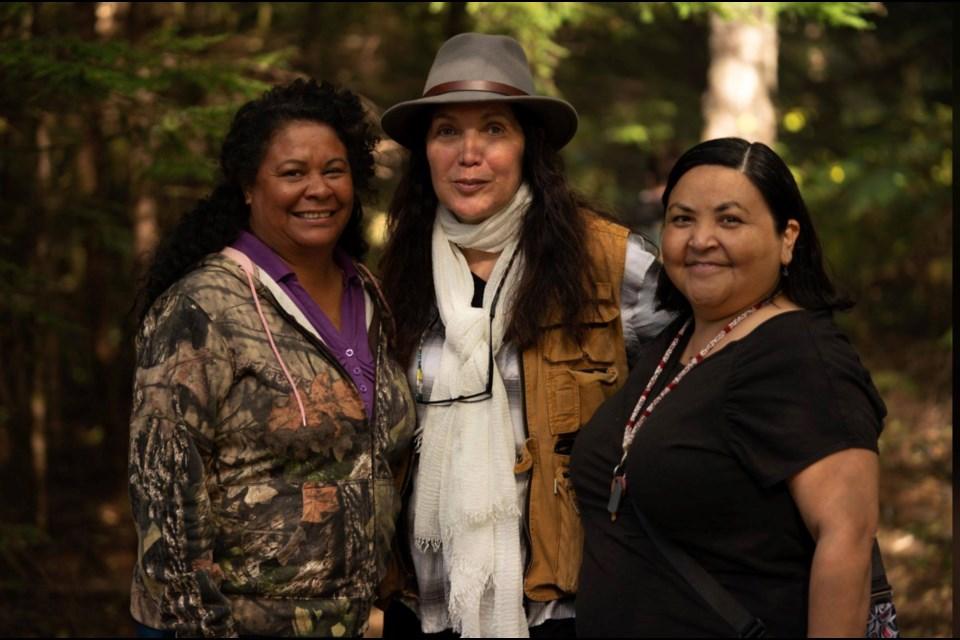Beaver Lake Cree Nation actress Tina Lameman with Monkey Beach director Loretta Todd and book author Eden Robinson.      Supplied