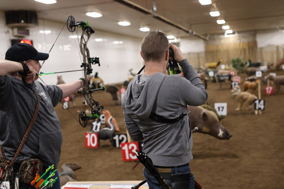 St. Paul Archery hosted a 3-D shoot over the first weekend of February, drawing in about 50 participants.