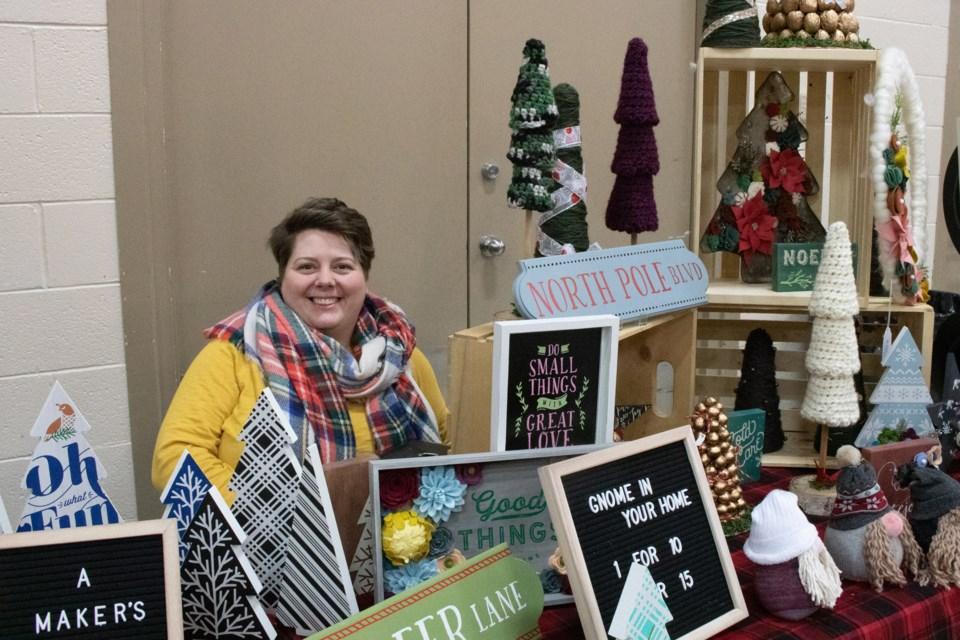Amy Mercer a regional home-based craft vendor.  File Photo