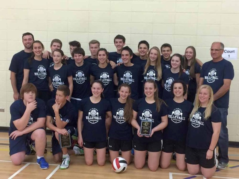 Both the Mallaig senior boys and girls volleyball teams had reason to celebrate on Saturday as a result of completing a gold medal sweep at their own school tournament.
