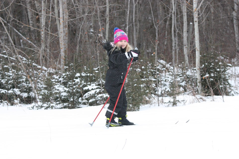 A small group of cross country skiers took to the Cooknell trails on Saturday morning (Feb. 4), despite the cold temperatures. See page 15 for coverage of the annual Iron