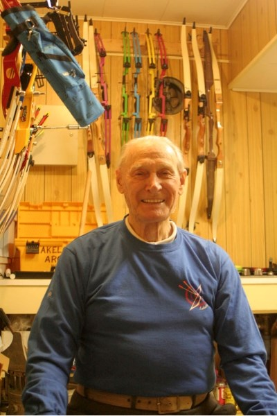 Herbert Erickson has been involved with archery for 86 years and celebrated his 95 birthday last Thursday.