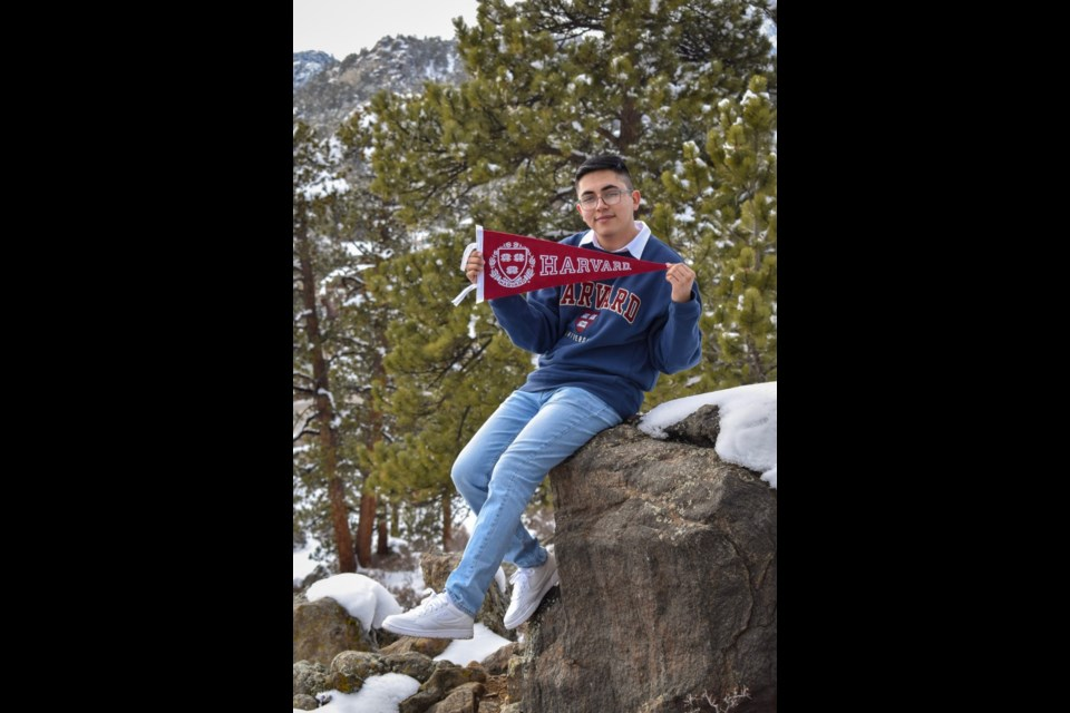 José Quiroz Yañez, Skyline High School student, got accepted into Harvard College class of 2025   Courtesy photo