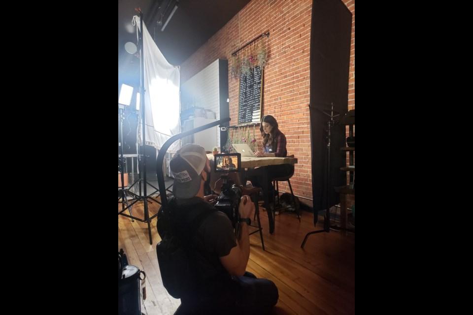 Chad Weber filming Rachel Hunter for Free Range Film's mini documentary 'Privot forward' | Photo by Ian Fleming