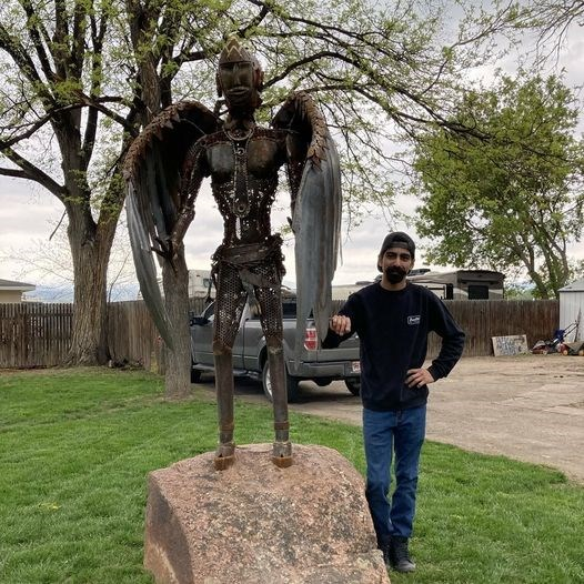 David with his Sakakawea Sculpture
