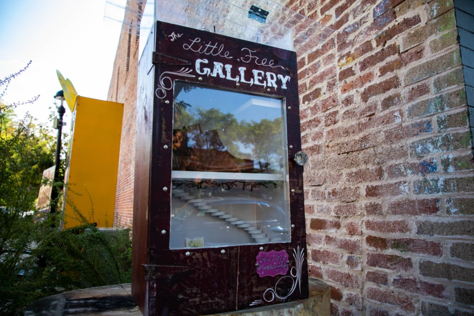 The Free Little Art Gallery in St. Stephen's Plaza is a project that encourages all aspiring creatives to contribute, adding a little beauty to Longmont.