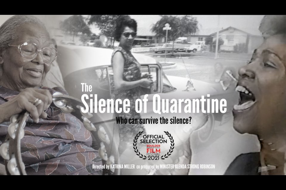 """The film poster for """"Silence of Quarantine"""" by Katrina Miller"""