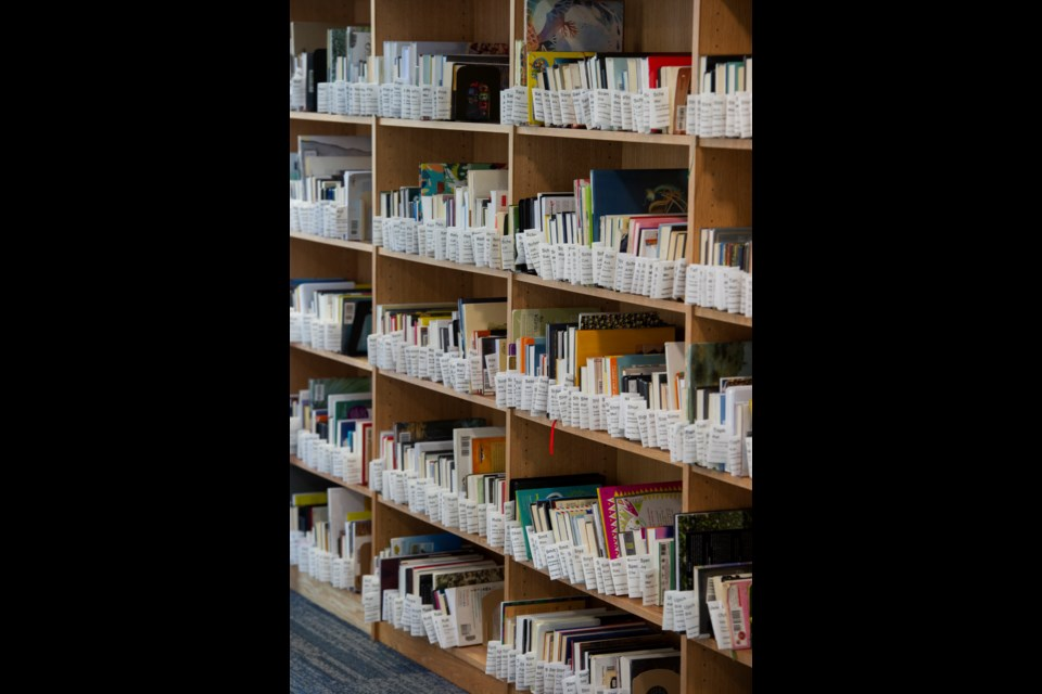 Books and materials that are checked out at the Longmont Public Library are placed in a holding area at the library before being picked up by the requester. Kort Duce / For The Leader