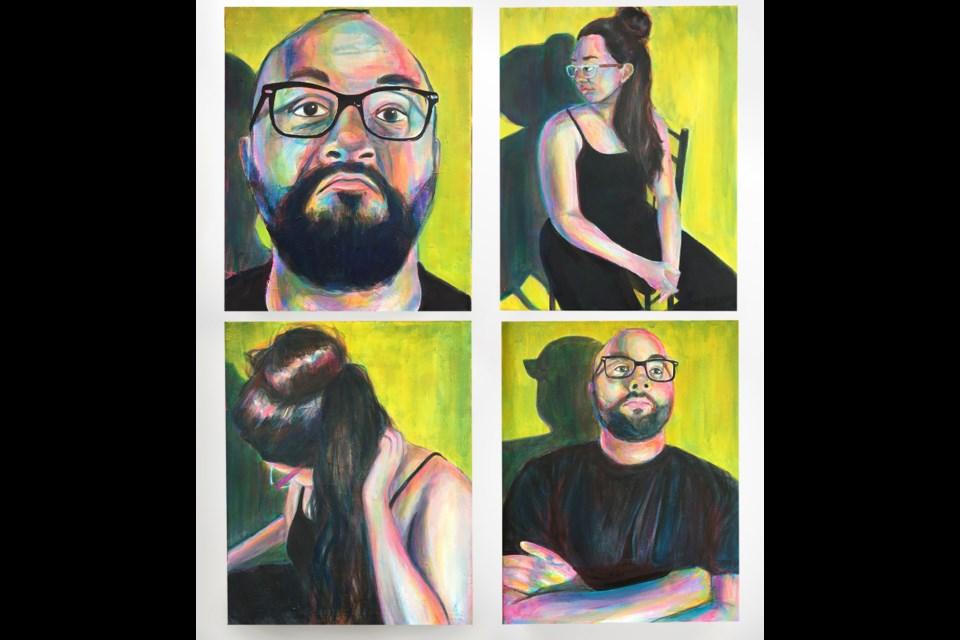 COVID isolation portraits by Grace Gutierrez