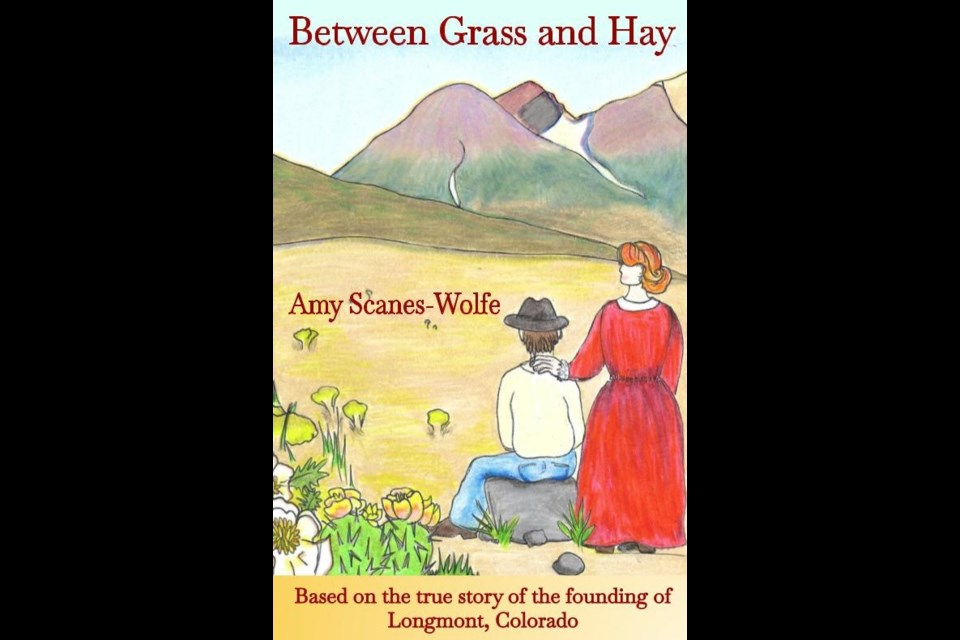The cover of Between Grass and Hay, the novel by Amy Scanes-Wolfe