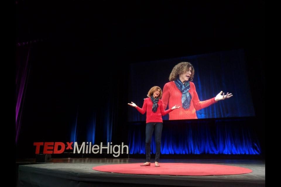 Rev. Dr. Paula Stone Williams speaks at a TEDxMileHigh event