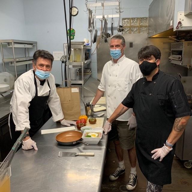 From left, Sugarbeet business partners Ari Kara and Ben Wheelon and chef James Cordova.  (Photo courtesy of Sugarbeet)