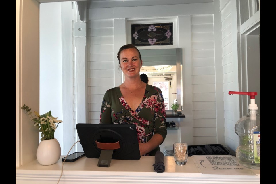 Sarah Morgan, pictured at the restaurant, is the new owner of Martinis Bistro. 