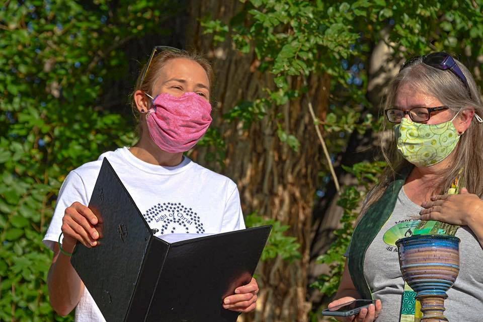 Poet laureate Teri harroun and Annie Hays