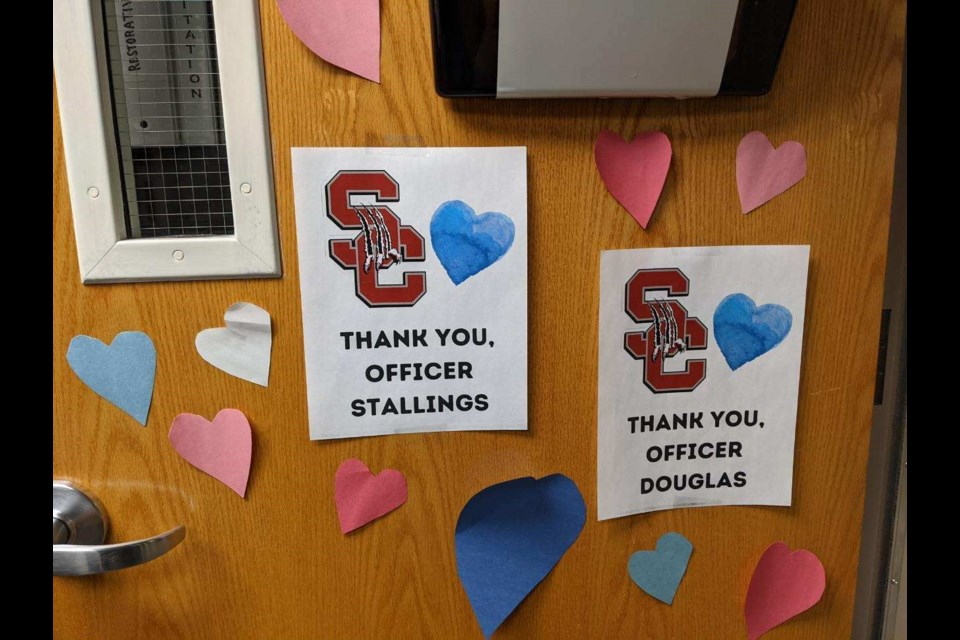 Silver Creek Leadership Academy students decorate SRO office in support after 10 died in a shooting in Boulder, including a police officer.