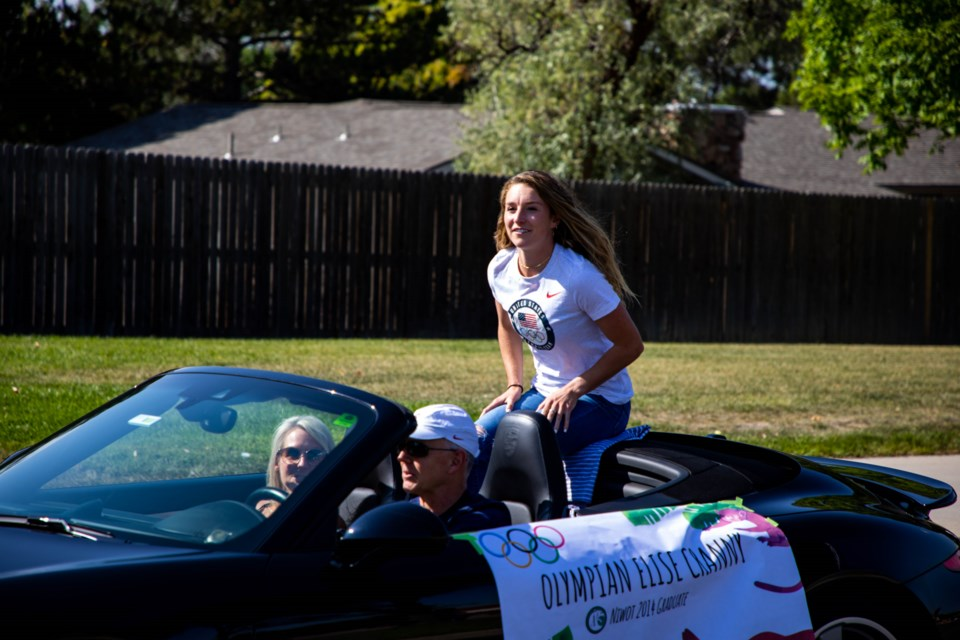 Niwot Homecoming Parade floats show off student athletics and creativity.