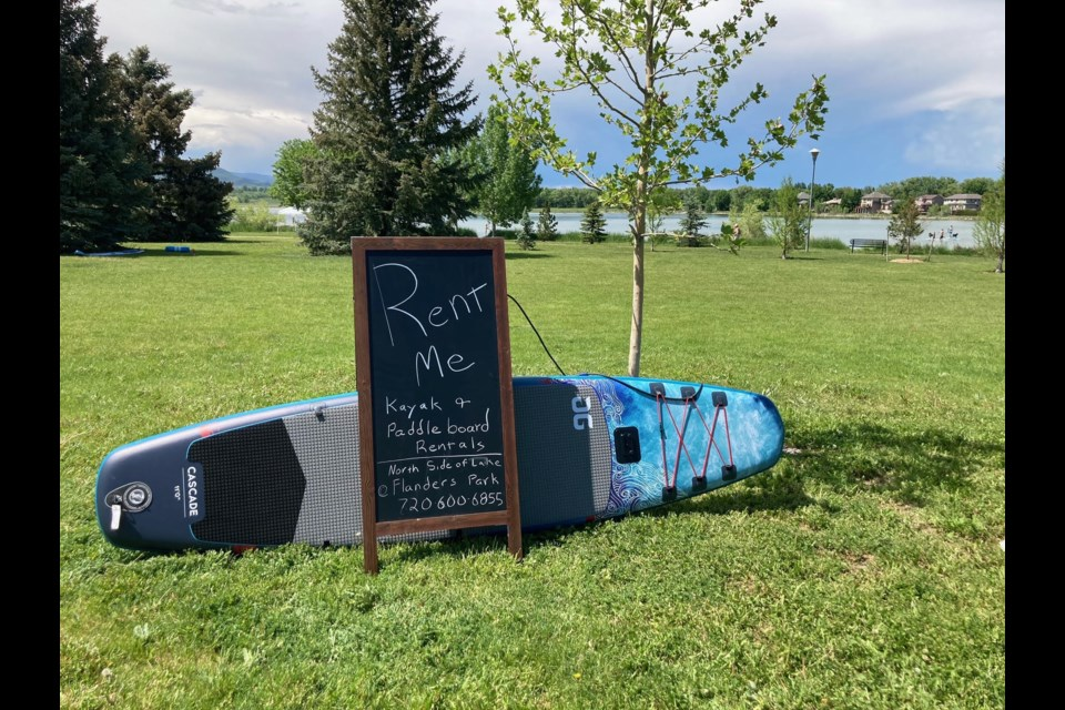 Longmont's Angles Sporting Exchange is now offering kayak and paddle board rentals at McIntosh Lake on summer weekends.