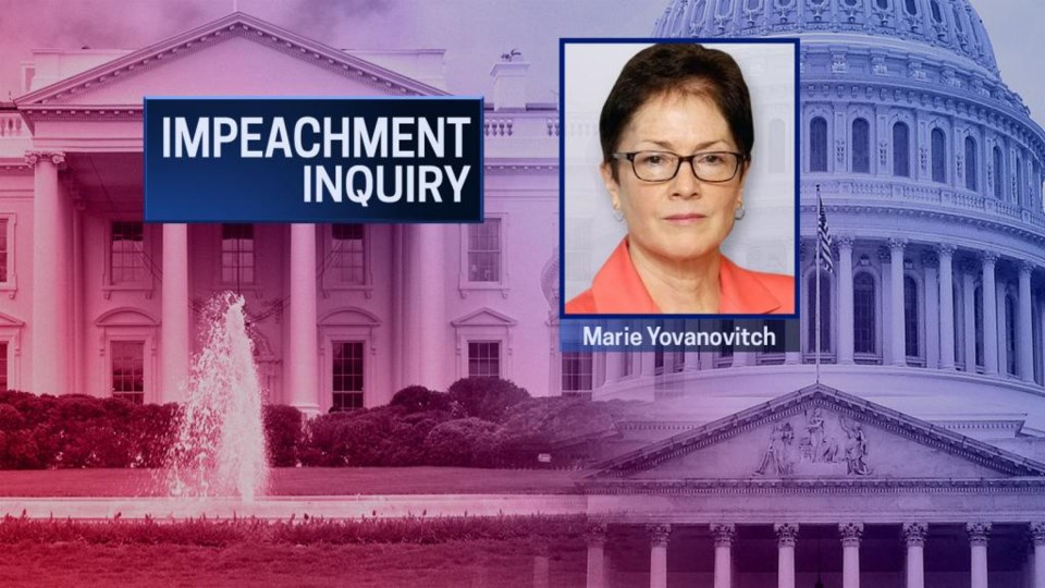 Marie Yovanovitch to testify in House Impeachment Inquiry
