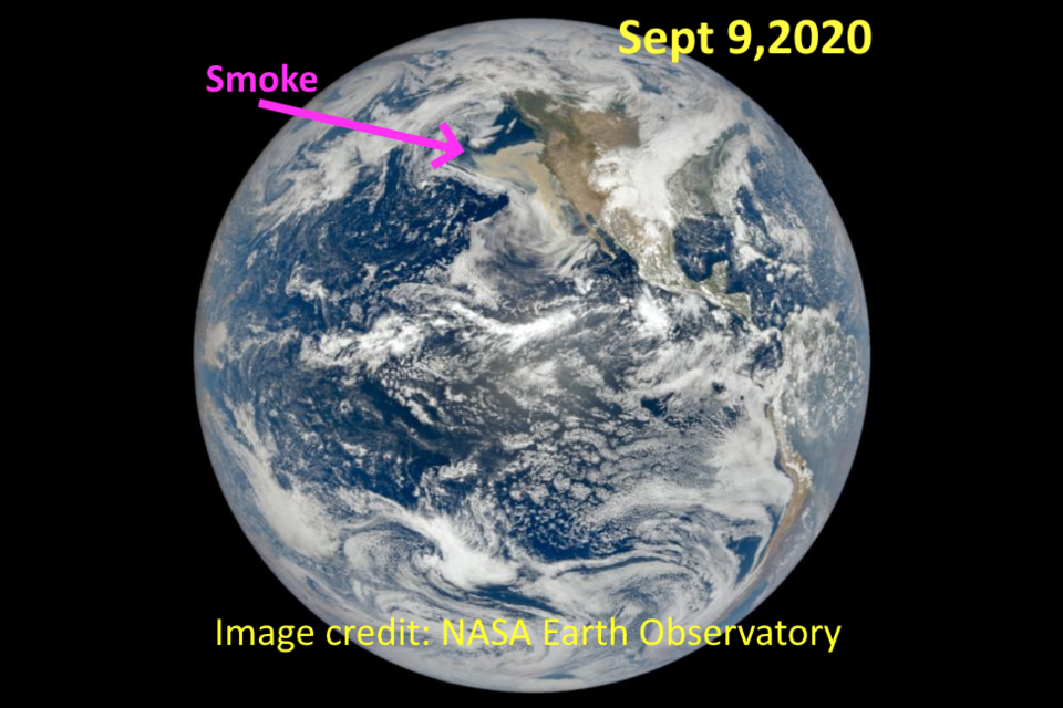 Figure 1: a whole Earth satellite image from the NASA EO Sept 9, 2020.