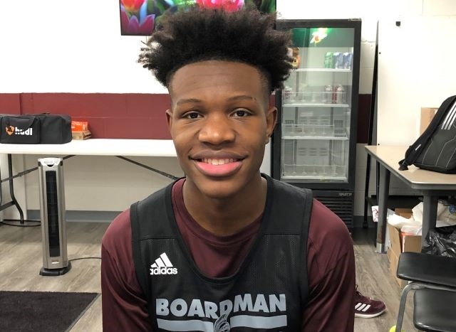 "Boardman point guard Derrick Anderson said he's enjoying his final varsity season. ""It's been cool. We're all working hard,"" he said. ""We've got one goal — to keep winning and get better."" (Photo by Tom Williams)"