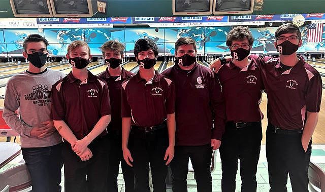 Members of the Boardman High School boys bowling team are, from left, Landon Bryant, Spencer Fernholz, Daniel Enright, Ivan Lindberg, Jacob Burkey, Rees Beckman and Joe Tarasewski. (Contributed photo)