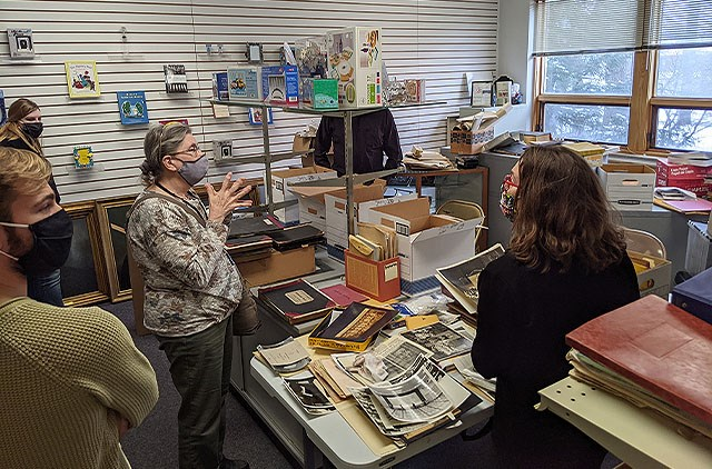 After boxes of institutional records and keepsakes were discovered in a utility closet on the lower level of Congregation Rodef Sholom, the temple is partnering with Youngstown State University's Applied History program and the AmeriCorps Ohio History Service Corps for the development of an institutional archive. (Contributed photo)