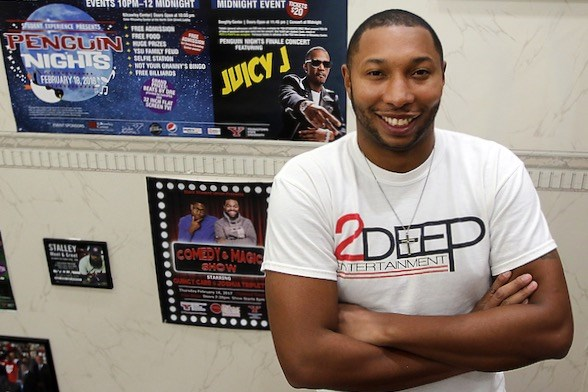 Terrill Vidale is making waves in the entertainment industry with locally owned 2Deep Entertainment. With more than 100 clients in 20 states, he has worked with lil Wayne, Da Baby, Lil Baby, Gunna, DJ Meek Mill and cast members from Wild 'n Out. Vidale has turned his hometown business into a national force. (Photo by Robert K. Yosay)