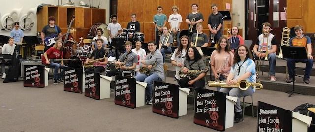 Boardman Jazz Ensemble 1 group photo 2021