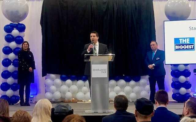Cafaro Company co-president Anthony Cafaro Jr. announced the opening of Boscov's at Eastwood Mall today (Jan. 6). (Photo by Jess Hardin | Mahoning Matters)