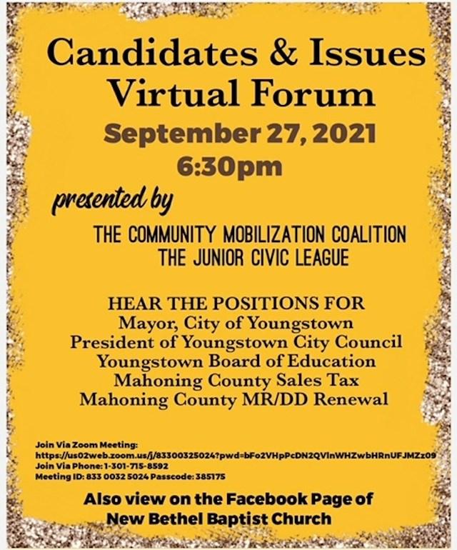 CMC Candidates Forum Flyer