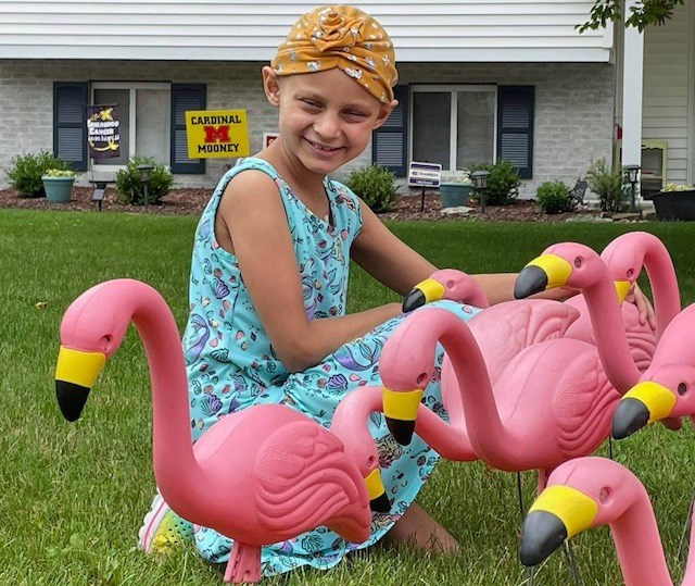 A local Relay for Life team, Flamingo Mafia Team M&M, is collaborating with the Ice House Inn on Sunday to raise money for f Nora Sabella, 7, battling Neuroblastoma. (Photo provided)