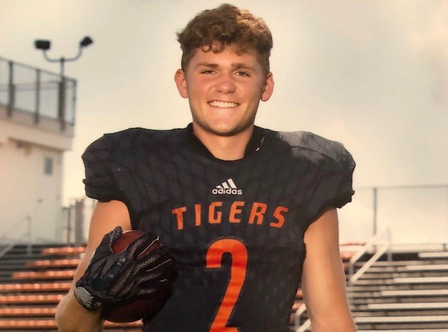 Springfield senior Evan Ohlin was a starter at defensive back and wide receiver as the Tigers outscored their opponents 583-174 this season. (Photo courtesy of Springfield High School)
