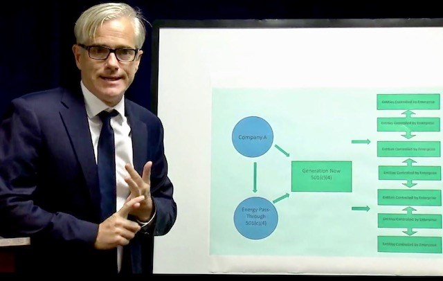David DeVillers, U.S. Attorney for the Southern District of Ohio court, explains the structure of a racketeering scheme allegedly perpetrated by Ohio House Speaker Larry Householder and his associates during a Tuesday, July 21, 2020 media briefing. (WBNS-TV)