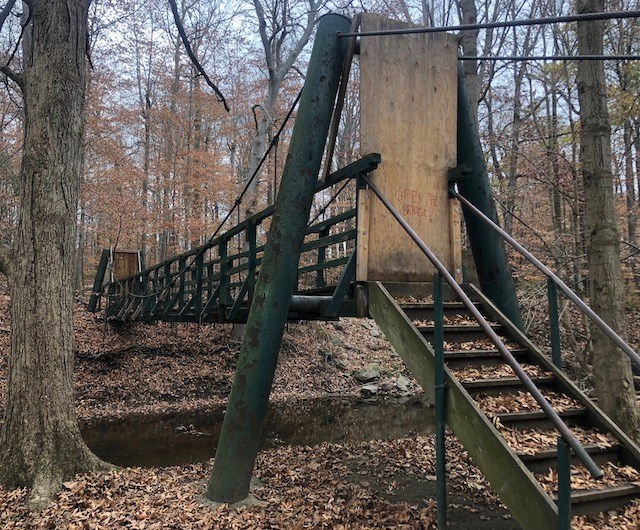 The Mauthe Bridge repair stalled again leading Poland Forest Foundation President Charles Rumberg to resign, frustrated by Poland officials who refused to explain to him what is going on with the project. (Jess Hardin)