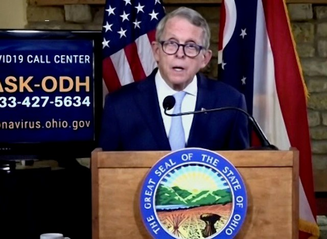 Gov. Mike DeWine during the state's coronavirus update on Thursday, Sept. 17, 2020.