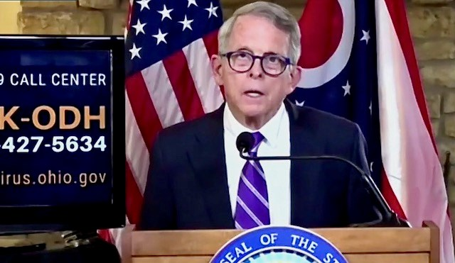 Gov. Mike DeWine during the state's coronavirus update on Thursday, Oct. 22, 2020.