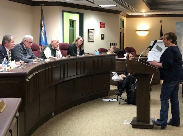 """Township Road Superintendent Marilyn Kenner, who lives on Lockwood Boulevard, told the zoning commission: """"We need to protect our neighborhood. We need to protect our residents."""" (Jess Hardin/Mahoning Matters)"""