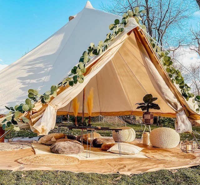Honeybee Tents & Events offers luxury tents and mini teepee experiences in northeast Ohio and western Pennsylvania. (Photo provided)