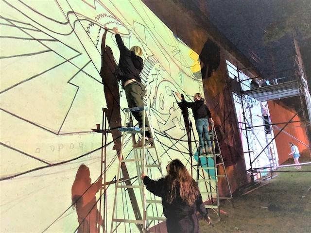 Mural project night_Yarab_Roberts_Miklos_Gyeong Son_Hritz
