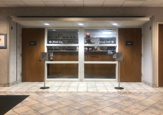 The small pharmacy in the lobby of St. Elizabeth's Youngstown Hospital now fills prescriptions for people outside the Mercy Health system. (Jess Hardin)