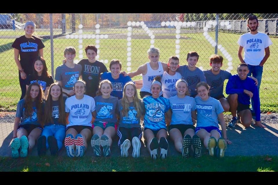 The Poland Bulldogs' girls and boys cross country teams qualified for the Division II meet  at Hebron's National Trail Raceway. (Photo provided)