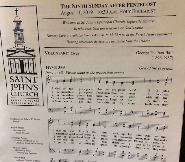 The 24-page church bulletin given to parishioners at St. John's Church on Aug. 11, 2019.