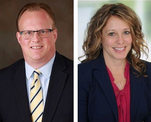 Martin Tursky has been named market chief operating officer, and Michelle Crawford has been named market chief financial officer at Mercy Health — Youngstown. (Contributed photos)