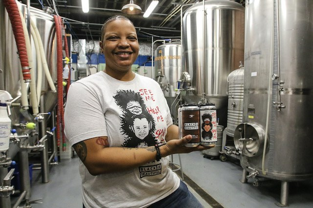 Born and raised on Youngstown's South Side, 38-year-old Hannah Ferguson got her start in the craft beer industry three years ago. Now she is the assistant brewer at Modern Methods Brewing Co. [Robert K. Yosay | Mahoning Matters)