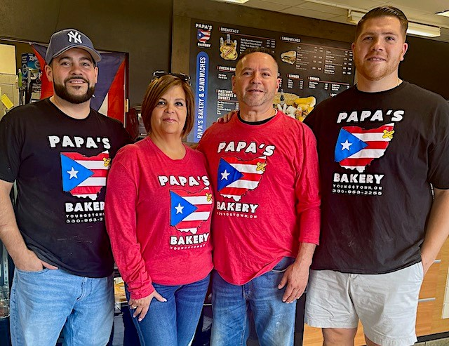 Papa's Bakery and Sandwiches, led by owner Jeremy Morales, far right, specializes in fresh bread, sandwiches and baked goods and aims to appeal to both Puerto Ricans and non-Puerto Ricans alike in the Valley. Also pictured, from left, are Carmelo Morales Jr., Jeanette Morales and Carmelo Morales Sr.(Photo provided)