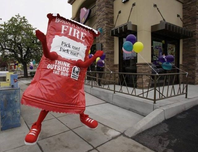 Taco Bell packet costume