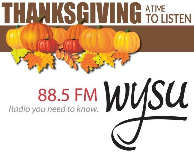 WYSU Thanksgiving logo